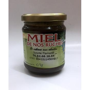 Miel de Nos Ruches - Miel de Forêt et de Chataigner - 100% Naturel - Apiculteur en Essonne - 250gr
