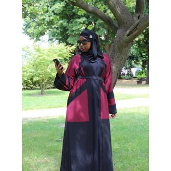 Arbaya Dubaï - Robe Kimono 3 Couleurs - Boutons Pressoir sur le Devant