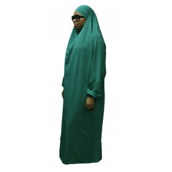 Jilbab El Bassira - A1 - 1 Pièce - Tissus Koshibo - Vert Menthe - n°32 - A1K4318