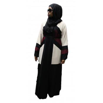 Robe Kimono 3 Couleurs - Noir, Blanc Cassé et Bordeau - Taille : de 1,60m à 1,70m - n°4407