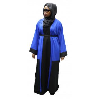 Robe Kimono 2 Couleurs - Noir et Bleu - Taille : de 1,60m à 1,70m - n°4409