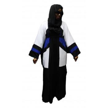 Robe Kimono 3 Couleurs - Blanc et Noir, Bleu - Taille : de 1,60m à 1,70m - n°4410