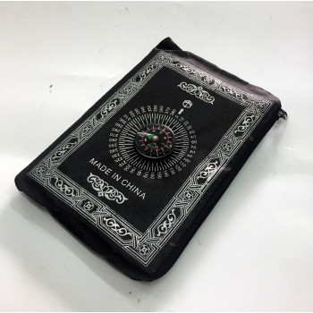 Tapis de Prière - Voyage - Format de Poche avec Boussole - Zipper