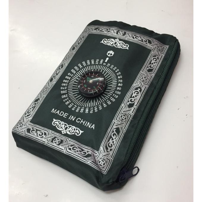 Tapis de Prière - Voyage - Format de Poche avec Boussole - Zipper - 4415