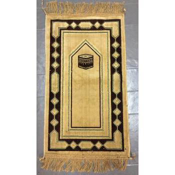 Tapis de Prière Beige avec Motif Kaaba - Pour Enfant