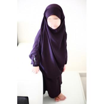 Jilbab Enfant - Couleur Prune Foncé - 2 à 4 ans - 6 à 8 ans - 10 à 12 ans - Na3im - 4728