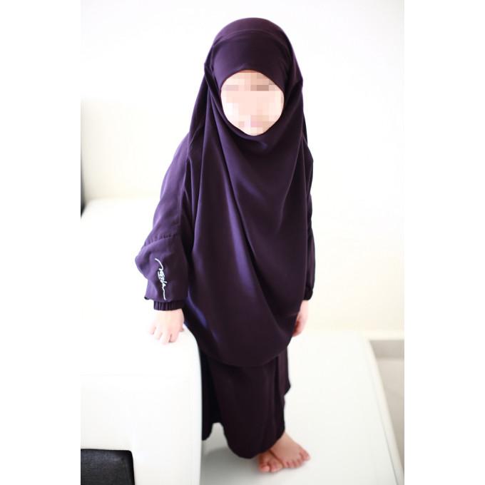 jilbab enfant couleur prune fonc 2 4 ans 6 8 ans 10 12 ans na3im 4728 al. Black Bedroom Furniture Sets. Home Design Ideas