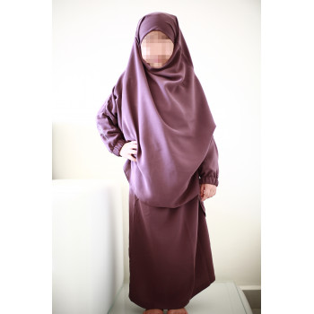 Jilbab Enfant - Couleur Lila Foncé - 2 à 4 ans - 6 à 8 ans - 10 à 12 ans - Na3im - 4731