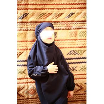 Jilbab Enfant - Couleur Bleu Foncé - 2 à 4 ans - 6 à 8 ans - 10 à 12 ans - Na3im - 4732