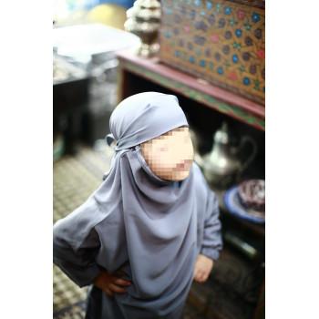 Jilbab Enfant - Couleur Gris Clair - 2 à 4 ans - 6 à 8 ans - 10 à 12 ans - Na3im - 4726