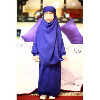 Jilbab Enfant - Couleur Bleu Roi - 2 à 4 ans - 6 à 8 ans - 10 à 12 ans - Na3im - 4735