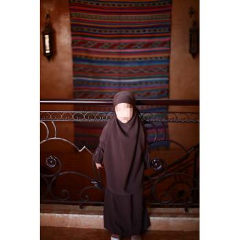 Jilbab Enfant - Couleur Marron Chocolat - 2 à 4 ans - 6 à 8 ans - 10 à 12 ans - Na3im - 4726