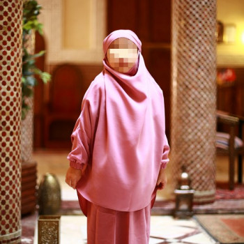 Jilbab Enfant - Couleur Rose - 2 à 4 ans - 6 à 8 ans - 10 à 12 ans - Na3im - 4738