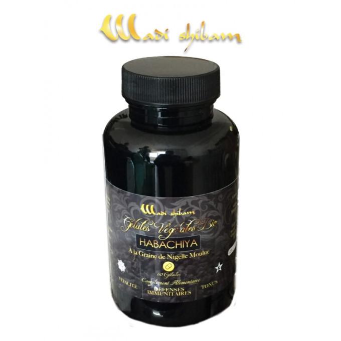 60 Gélules Végétales BIO à la Graine de Nigelle - Habachiya – Vitalité, Défenses Immunitaires et Tonus – Wadi Shibam - 4778