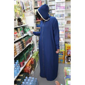 Robe Longue - Capuche - Fermeture Eclaire Tous le Long - 1608
