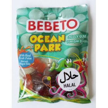 Bonbons Ocean Park - Fabriqué avec du Vrai Jus de Fruit - Bebeto - Halal - Sachet 80gr