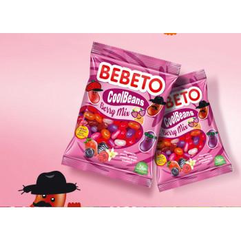 Bonbons Cool Beans - Berry Mix - Fabriqué avec du Vrai Jus de Fruit - Bebeto - Halal - Sachet 60gr