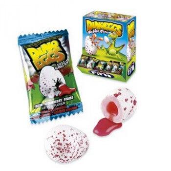 Bonbons -Dino Eggs - Bubble Gum - Fini - Halal