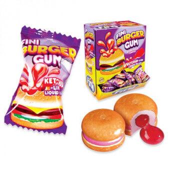 Bonbons - Burger Gum - Bubble Gum - Fini - Halal