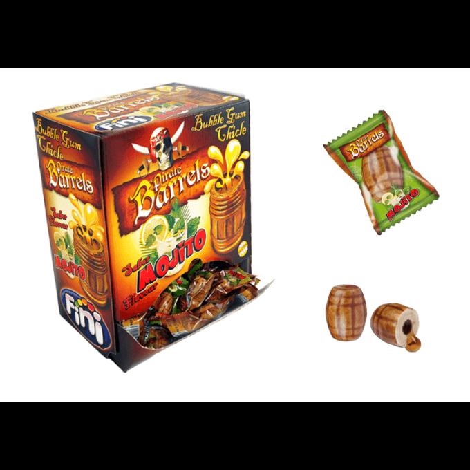 Bonbons - Pirates Barrels - Mojito - Bubble Gum - Fini - Halal
