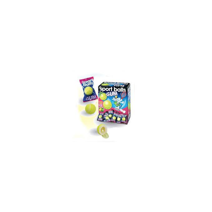 Bonbons - Sport Balls - Tennis - Bubble Gum - Fini - Halal