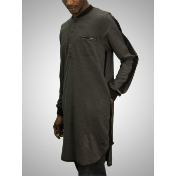 Qamis Hailin - Gris Anthracite - The One - 4802