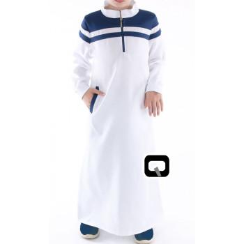 Qamis Long Classique Enfant - Manches Longue - Qaba'il - 012 uzun