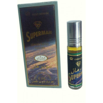 Superman - Musc Sans Alcool - Concentré de Parfums Bille 6ml - Al Rehab