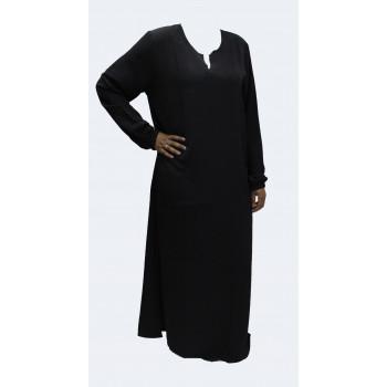 Robe noire unie El Bassira