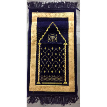 Tapis de Prière Bleu avec Motif Kaaba - Pour Enfant