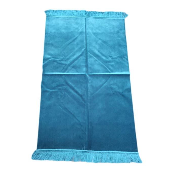 Tapis de Prière de Luxe - Couleur Unis - Bleu Canard Claire