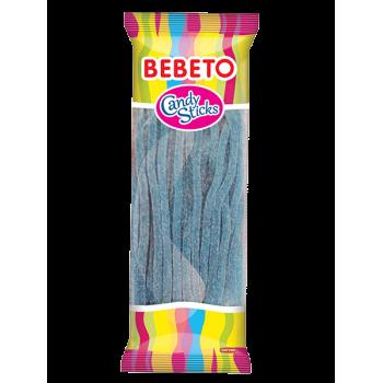 Bonbons Candy Stiks - Framboise - Végétarien - Fabriqué avec du Vrai Jus de Fruit - Bebeto - Halal - Sachet 180gr