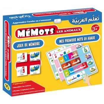 Mémots Les Animaux - Jeux de Mémoire - Mes Premiers Mots en Arabe - GoodWord - A partir de 3 ans