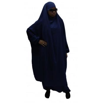 Jilbab 2 pieces bleu El Bassira - n° 30 - Tissu Wool Peach