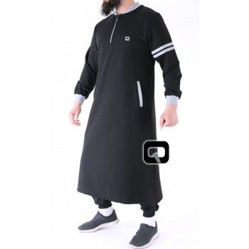 Qamis Long Jogging - Roadster - Noir - Qaba'il - 02 Uzun