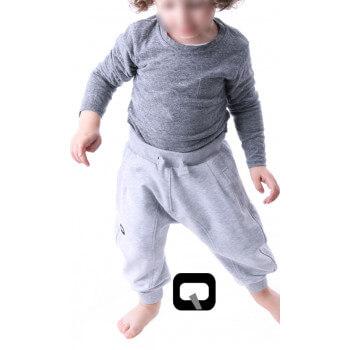 Sarouel enfant gris clair Qaba'il : junior