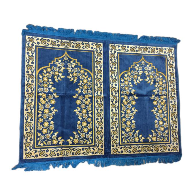 Tapis de Prière - 2 Places 107 x 140 cm - Bleu Clair - 5674
