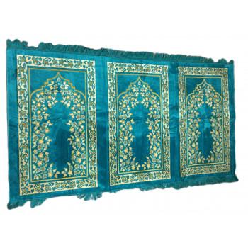 Tapis de Prière - 3 Places 107 x 195 cm - Turquoise - 5675