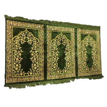 Tapis de Prière - 3 Places 107 x 195 cm - Vert - 5677
