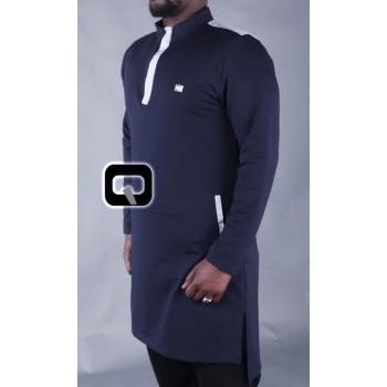 Qamis Court Boss - Bleu Nuit - Qaba'il - 2013 Kisa