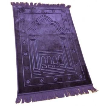 Grand Tapis de Prière - Lila - Motif Mirhab - Molletonné, Épais et Trés Doux - Confortable et Anti-Dérapant