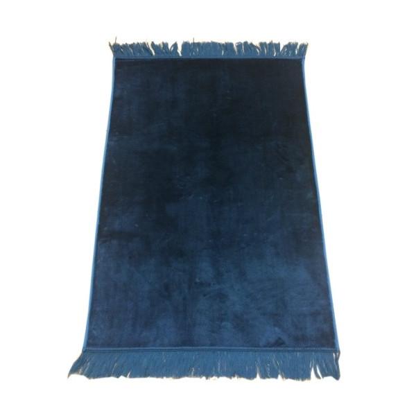 grand tapis de pri re bleu p trole sans motif molletonn pais et tr s doux confortable. Black Bedroom Furniture Sets. Home Design Ideas
