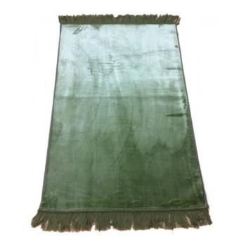 Grand Tapis de Prière - Vert Pistache - Sans Motif - Molletonné, Épais et Trés Doux - Confortable et Anti-Dérapant