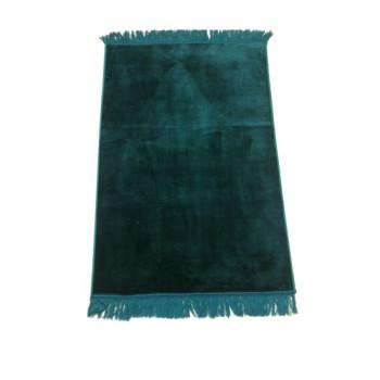 Grand Tapis de Prière - Vert Bouteille - Sans Motif - Molletonné, Épais et Trés Doux - Confortable et Anti-Dérapant
