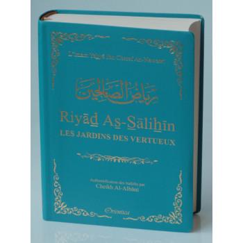 Riyâd As-Salihine de l'Imam Al Nawawi - Bleu Canard - De Poche - Les Jardins des Vertus - Edition Orientica