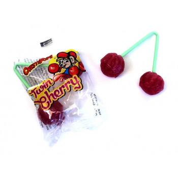 Bonbons - Double Sucettes Twin Cherry - Cerise - Halal - 5906