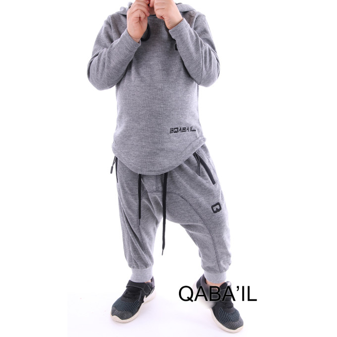 Ensemble Gris Clair - Survêtement Onyx Junior - Qaba'il