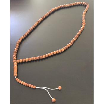 Chapelet - Tasbih 99 en Bois Marron - Moyenne Perles - 5930