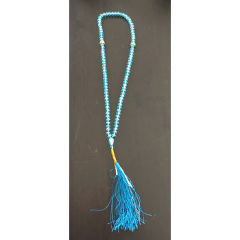 Chapelet - Dzikr - 99 Perles Cristal - Bleu Turquoise - 5944