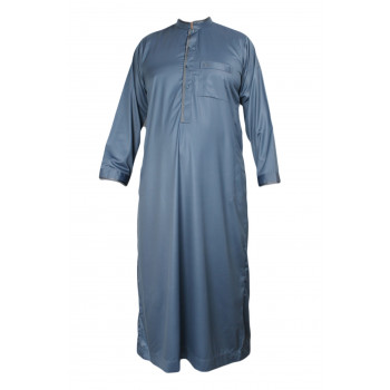 Qamis - Tissu Raffiné Glacé - Manche Longue - Al Hattami - Arabie Saoudite -